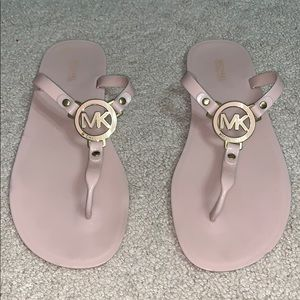Micheal kors pink jelly sandals